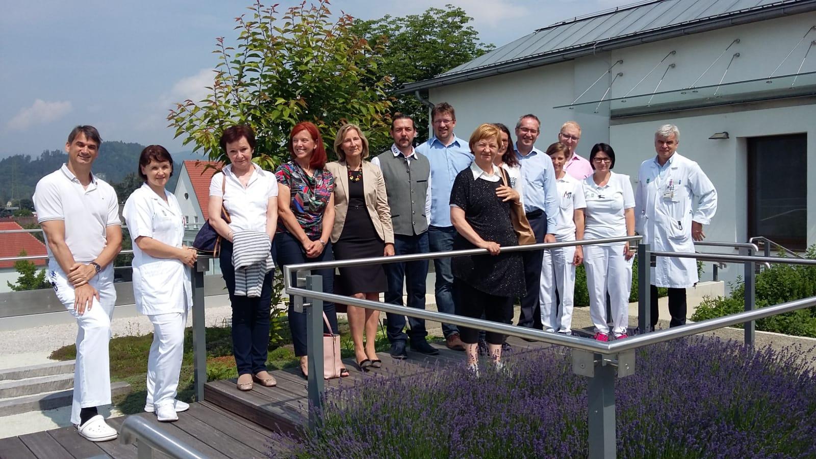 08_Arbeitsgruppe Pflege_Fuehrung LKH Voitsberg_Remobilisationsstation